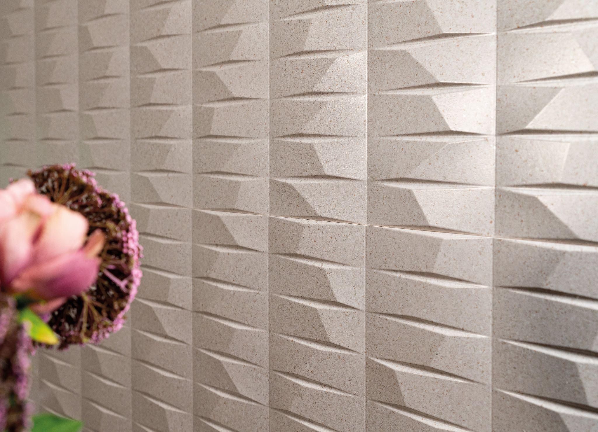 Battuto Mosaic White 40x120 | Newker