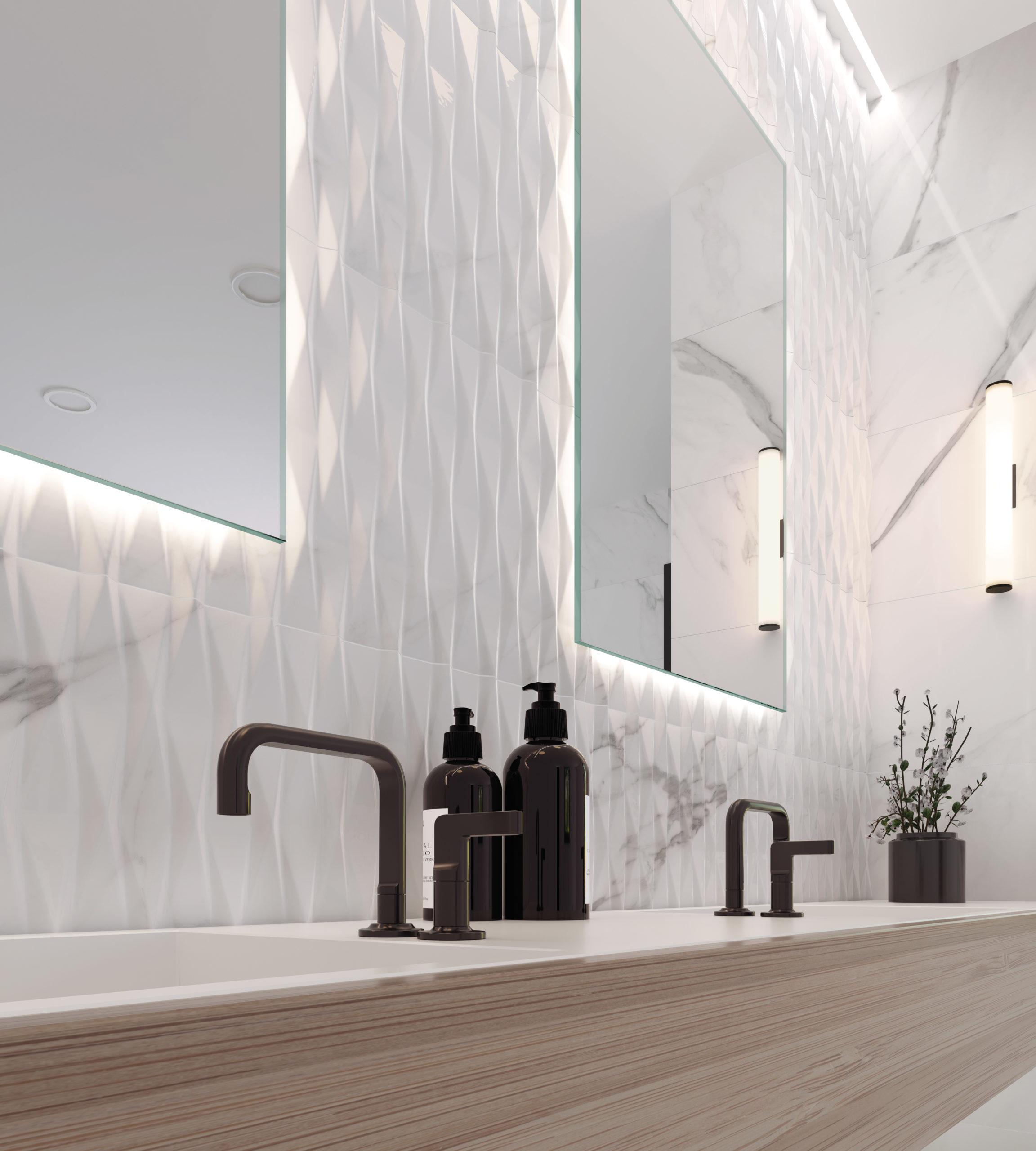 Calacatta Wall Gloss White 40x120   Newker