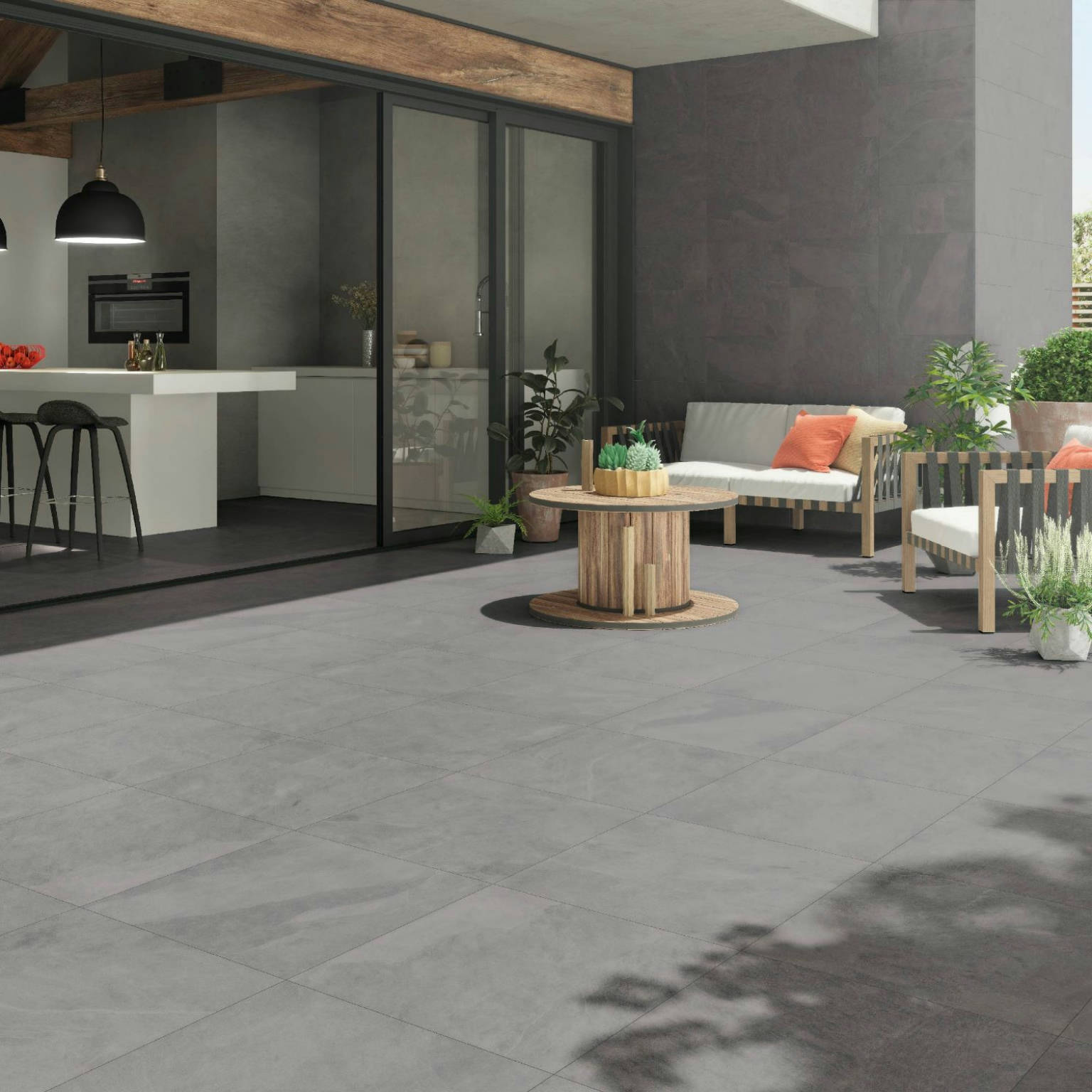 Lava Antislip Grey 60x60   Newker